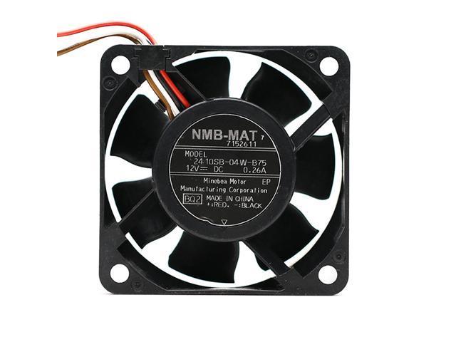 New Original NMB 2410SB-04W-B75 12V 0.26A 6CM 6025 4 Lines drum washing machine cooling fan photo