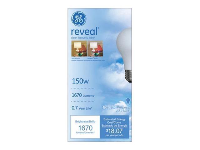 G E  Lighting 16703 Reveal 150 Watt Incandescent Reading Light Bulbs - pack  of 6 - Newegg com