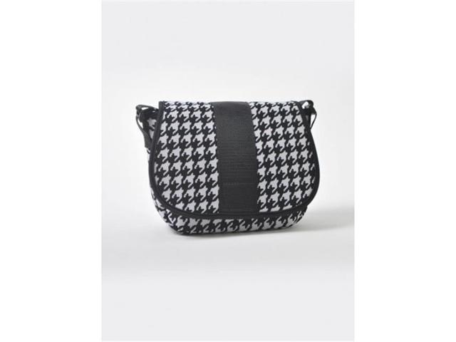 Nupouch 0129 Black And White Houndstooth Crossbody Purse Women (Luggage & Bags) photo