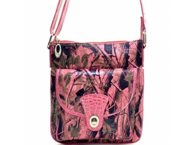 Ritz Enterprises MS101-PK Western Camouflage Crossbody Messenger Bag Purse - Pink (Luggage & Bags) photo