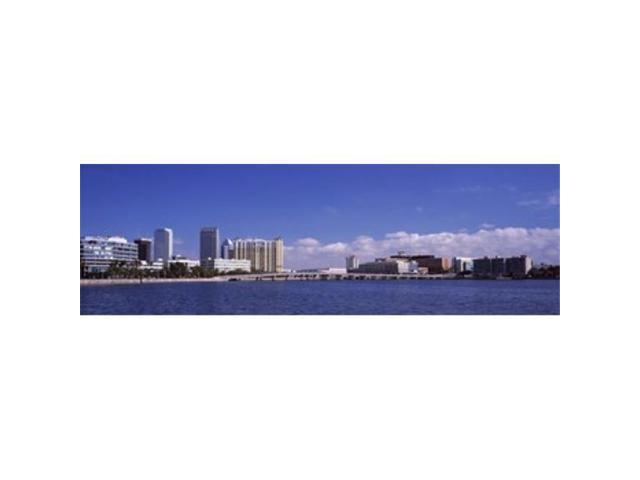 Panoramic Images PPI120727L City at the waterfront Hillsborough Bay Tampa Hillsborough County Florida USA Poster Print by Panoramic Images. (Arts & Entertainment Artwork) photo