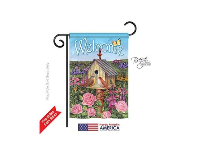 Breeze Decor 50049 Welcome Bird House 2-Sided Impression Garden Flag - 13 x 18.5 in. (Home & Garden Flags & Windsocks) photo