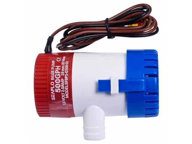 OnlineGymShop CB16446 12 V 2.0A 500 GPH Electric Bilge Pump Marine Boat Yacht Submersible 0.75 in. Hose photo
