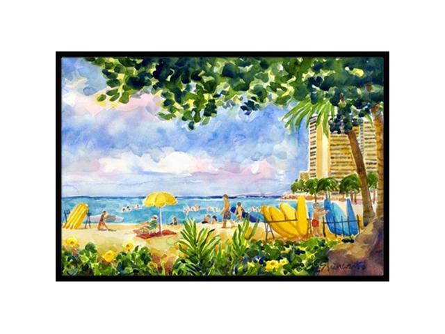 Carolines Treasures 6065MAT Beach Resort view from the condo Indoor Or Outdoor Mat - 18 x 27 in. (Arts & Entertainment Collectibles) photo