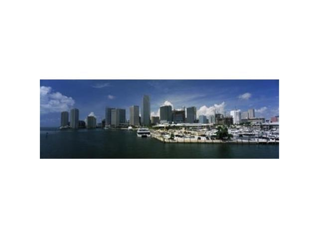 Panoramic Images PPI109508L Skyscrapers at the waterfront viewed from Biscayne Bay Ocean Drive South Beach Miami Beach Florida USA Poster. (Arts & Entertainment Artwork) photo