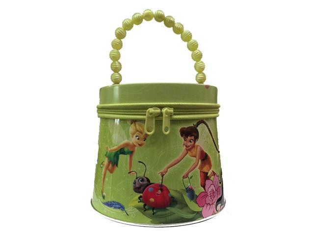 Tinkerbell Tote Tin Box Carry All Purse with Beaded Handle - Green (655036951033 Luggage & Bags) photo