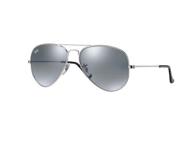 f67e773e92 Ray Ban Aviator Flash Mirror Sunglasses - Silver Mirror   Silver Frame  RB3025 W3277