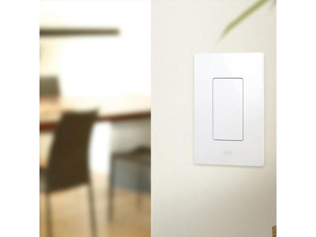 Eve Light Switch, Connected Wall Switch with Apple HomeKit Technology, Bluetooth Low Energy (813180020207 Smart Plug & Led) photo