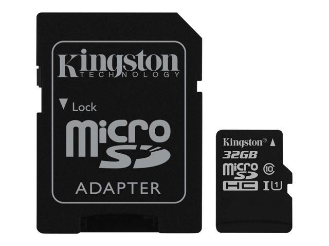 Kingston Technology Canvas Select 32GB Class 10 UHS-I microSDHC Memory Card with SD Adapter (740617274707 Electronics Flash Memory Flash Memory Cards) photo