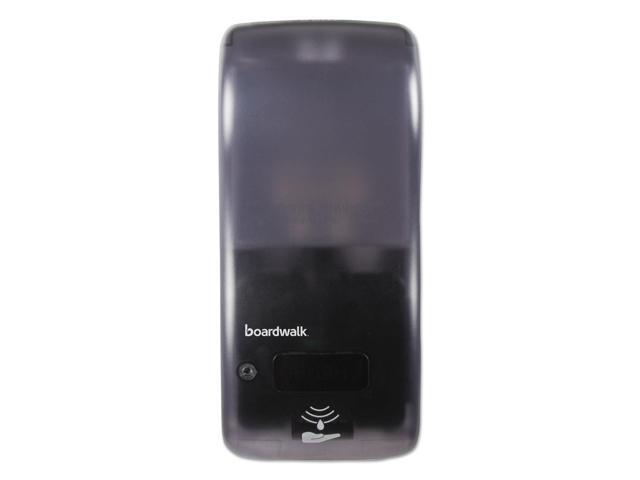 Rely Hybrid Liquid Soap & Hand Sanitizer Dispenser, 900ml, Black, 12'x5.5'x4'