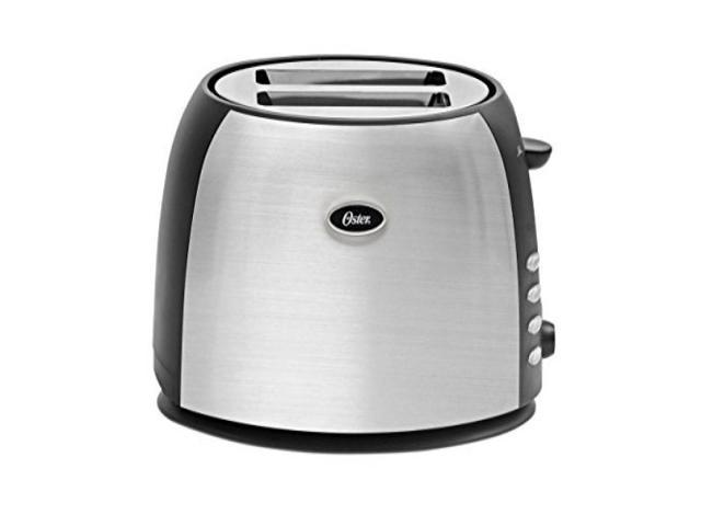 Oster TSSTJC5BBK 2-Slice Toaster, Brushed Stainless Steel photo