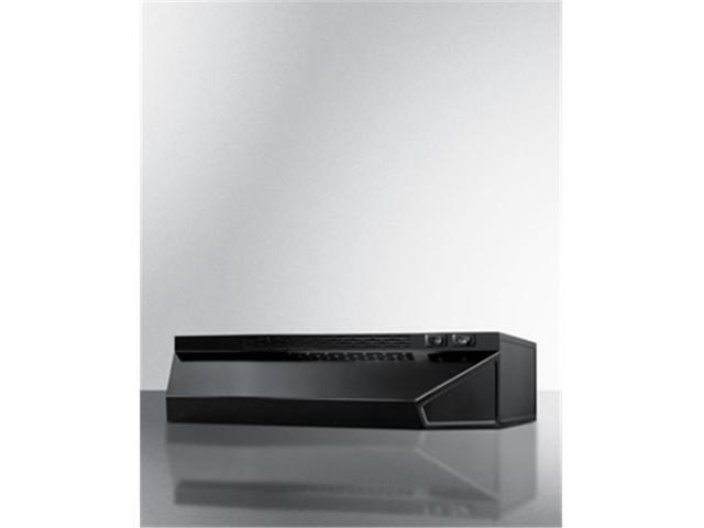 Summit Appliance H1636B 36 in. Convertible Range Hood for Ducted or Ductless - Black photo