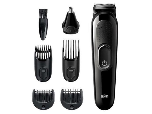 Braun MGK3220 6-in-1 Men's Rechargeable Wet / Dry Electric Trimmer Kit for Beard and Hair Styling, Black