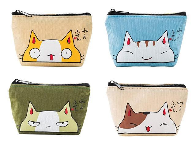 iSuperb Pack of 4 Canvas Coin Purse Change Cash Bag Zipper Small Purse Wallets (Office Supplies Paper Products) photo