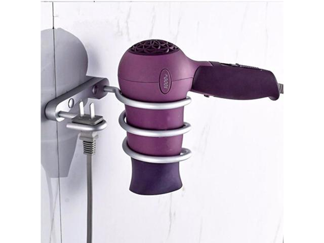 1pcs Arrvial Wall Mounted Hair Dryer Drier Comb Holder Rack Stand Set Storage Organizer Hot Excellent Quality photo