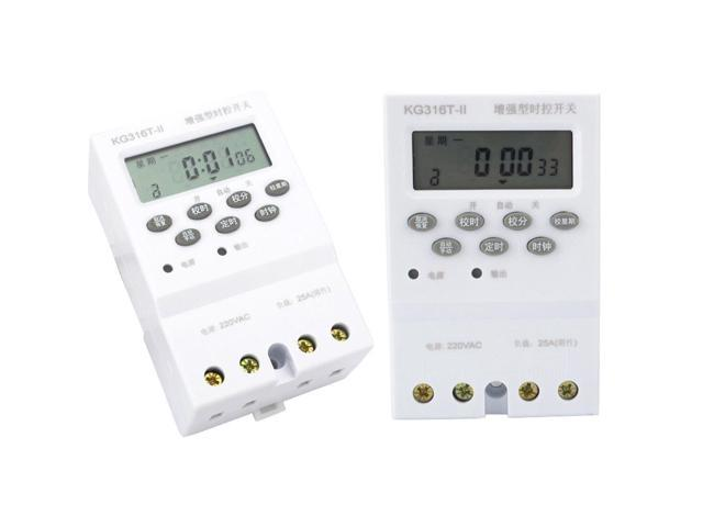 Electronic Timer Switch Din Rail LCD Digital Programmable AC 220V 25A For Home Appliance photo