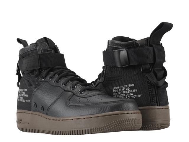 5be1225ea3c Nike SF AF1 Air Force 1 Special Forces Black Dark Hazel Men s Shoes 917753-