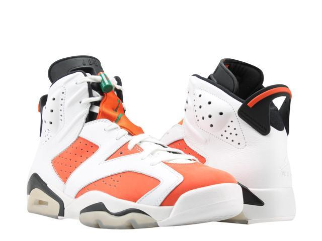 factory authentic 3a47b 11d38 Nike Air Jordan 6 Retro Gatorade Orange White Men s Basketball Shoes  384664-145 Size 11.5