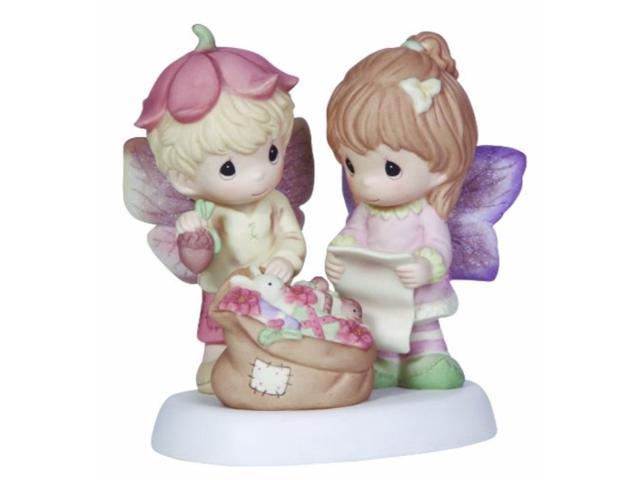 Precious Moments Girl and Boy with Bag of toys Figurine (875555019001 Furniture) photo