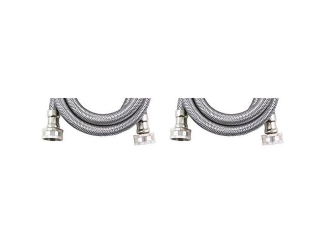 CERTIFIED APPLIANCE WM72SS2PK Braided Stainless Steel Washing Machine Hose 2 pk (6ft) (WM72SS2PK) By The Foot photo