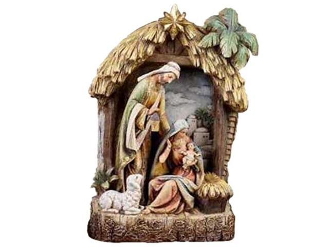 Napco Holy Family in Creche Christmas Decoration Figurine (099278440373 Sporting Goods) photo