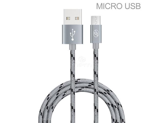 For LG Aristo 2 Premium 10 Ft Gray Braided Micro USB/V8/V9 Data Sync Charge  Cable - Newegg com