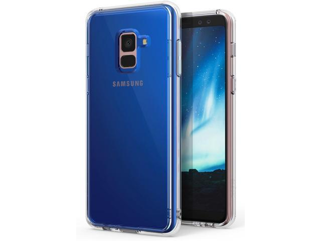 Samsung Galaxy A8 2018 Case, Ringke [Fusion] Crystal Clear PC Back TPU Bumper [Drop Protection/Shock Absorption Technology] Raised Bezels. (Electronics Communications Telephony) photo