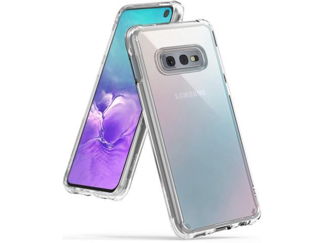 Ringke [Fusion] Designed for Galaxy S10e (5.8') Crystal Clear PC Back Case [Anti-Cling Dot Matrix Technology] Lightweight Transparent TPU Bumper. (Electronics Communications Telephony) photo