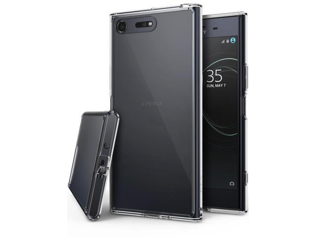 Ringke [Fusion] Compatible with Sony Xperia XZ Premium Case, Crystal Clear PC Back TPU Bumper [Drop Protection/Shock Absorption Technology] Raised. (Electronics Communications Telephony) photo