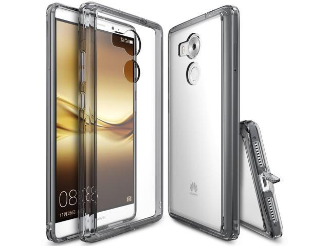 Ringke [FUSION] Compatible with Huawei Mate 8 Case, Crystal Clear PC Back TPU Bumper [Shock Absorption Technology][Attached Dust Cap] For Huawei. (Electronics Communications Telephony) photo