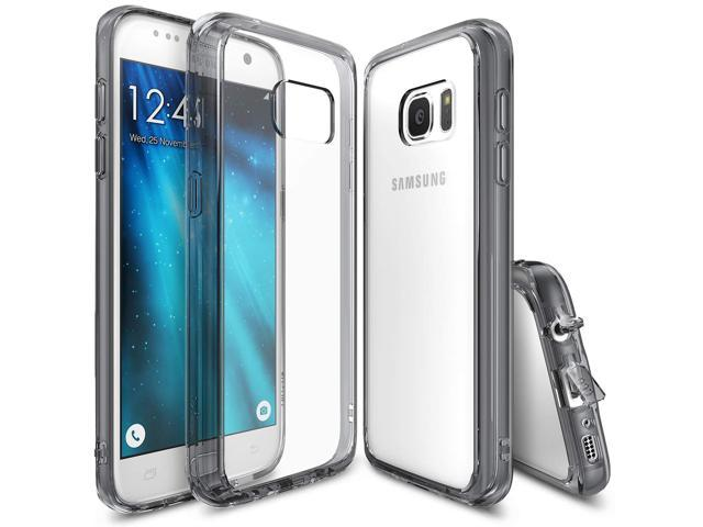 Ringke [Fusion] Compatible with Galaxy S7 Case, Crystal Clear PC Back TPU Bumper [Drop Protection/Shock Absorption Technology][Attached Dust Cap]. (Electronics Communications Telephony) photo