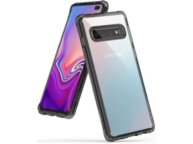 Ringke [Fusion] Designed for Galaxy S10 Plus (6.4') Crystal PC Back Case [Anti-Cling Dot Matrix Technology] Lightweight Transparent TPU Bumper Drop. (Electronics Communications Telephony) photo