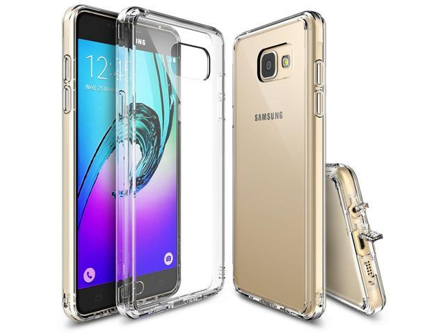 Galaxy A5 2016 Case, Ringke [FUSION] Crystal Clear PC Back TPU Bumper [Drop Protection / Shock Absorption Technology][Attached Dust Cap] for. (Electronics Communications Telephony) photo