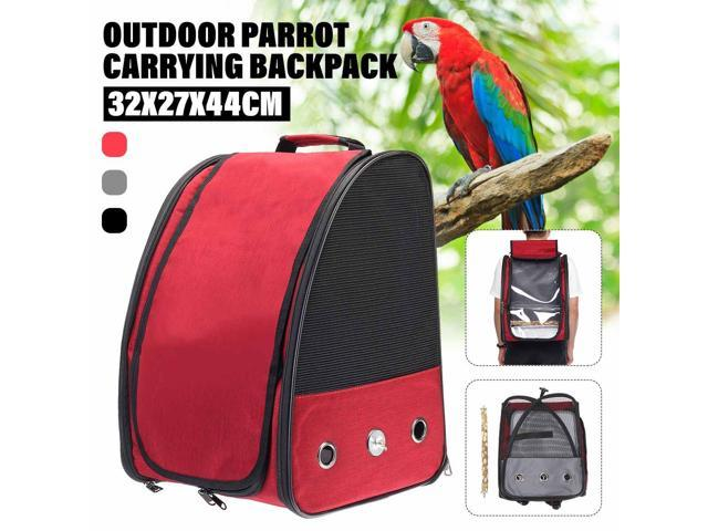 Pet Parrot Bird Carrier Breathable Pets Bag Backpack With Perch Stand Stick Outdoor Portable Pet Birds Cage Nest House 3 Colors (Electronics) photo