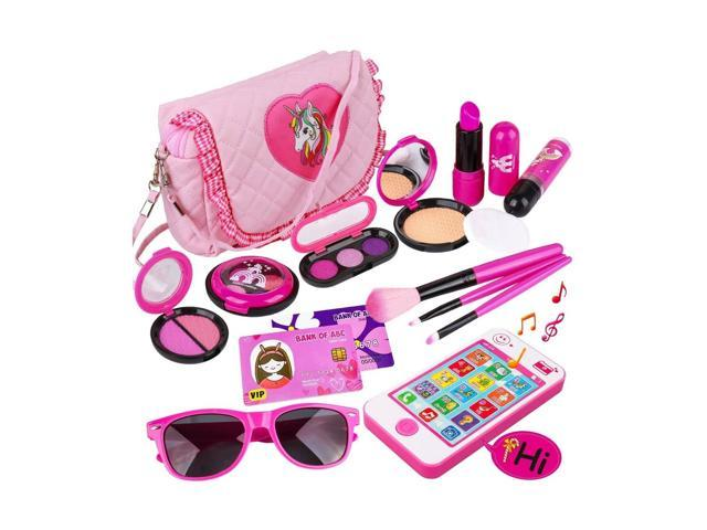 Kids Makeup Kit - Girl Pretend Play Makeup & My First Purse Toy for Toddler G. (921466714327 Toys & Games Toys) photo