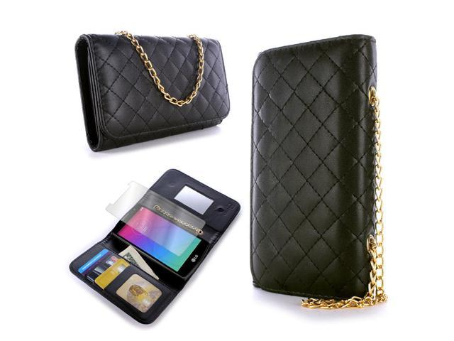 for LG Escape 2 / Logos / Spirit Wallet Case - Black Purse Quilted Bag Pouch (695978219723 Electronics Communications Telephony Mobile Phone Cases) photo
