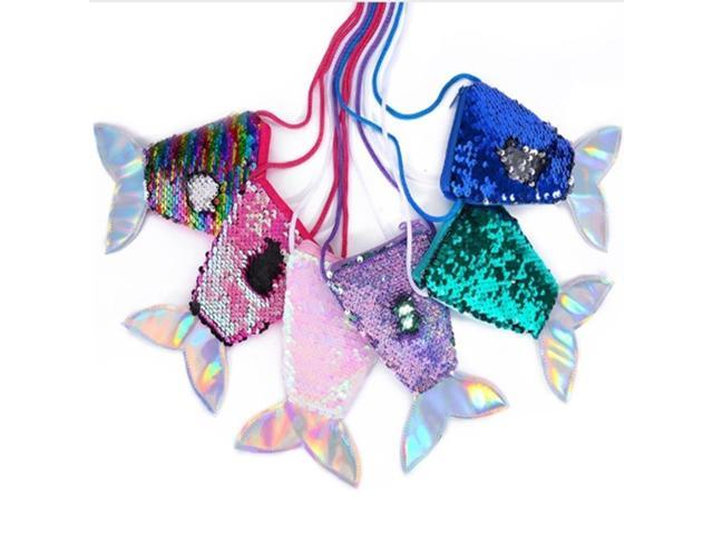 Mermaid Tail Sequins Coin Purse Girls Crossbody Bags Sling Money Change Card Holder Wallet Purse Pouch Kids Gifts (Electronics Computers Handheld Devices Pdas) photo