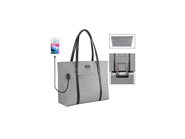 Tote Purse Large Business Women Work Bag Professional Computer Purse Teacher Tote Bag with Zipper and Pockets Fits 156 Inch (Electronics Computer Components Laptop Parts) photo