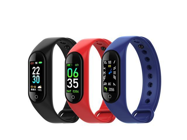 DOBACNER M3plus color screen smart bracelet heart rate blood pressure blood oxygen sports step weather reminder black technology watch (Electronics) photo