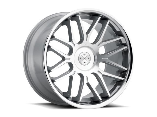 Blaque Diamond BD27 20x9 5x115 ET40 Silver/Chrome Lip Concave Wheels Rims -  Newegg com