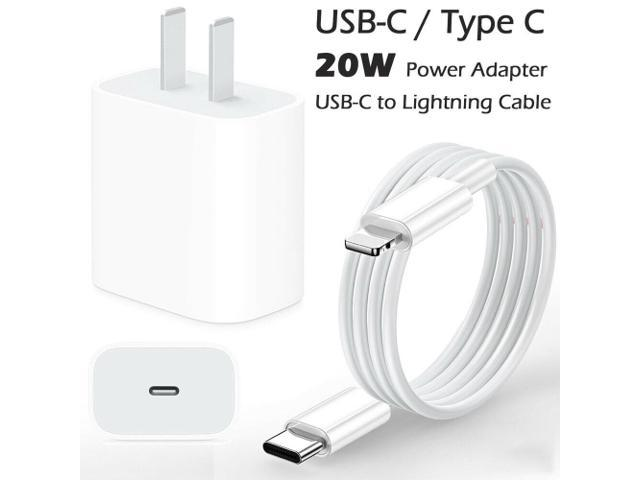 20W Type USB C Fast Wall Charger Power Adapter for iPhone 11 / Pro / Max iPhone 12 / Pro / Max iPad Air Mini Pro plug + 1m USB-C to Lightning Cable.