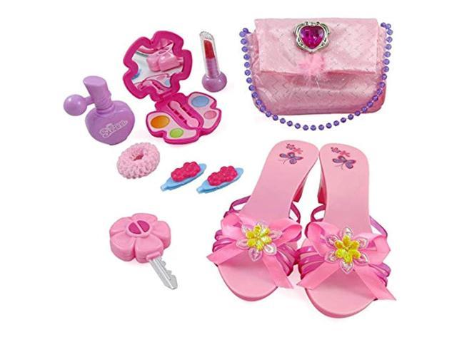 liberty imports little princess fashion beauty set for girls with pink purse, shoes & accessories (000649435027 Toys & Games Toys Pretend Play) photo