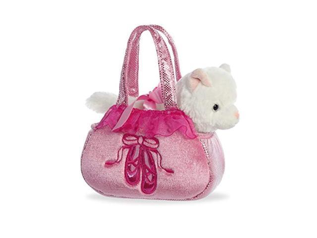 aurora world fancy pals purse pet carrier, ballet kitten (092943328280 Baby & Toddler) photo