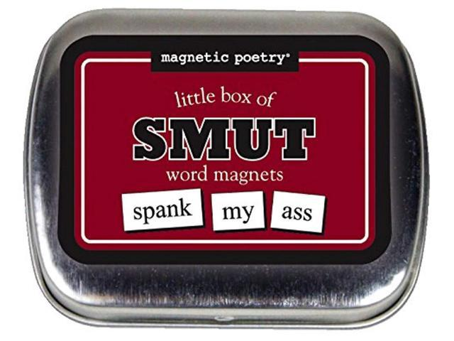 magnetic poetry - little box of smut kit - words for refrigerator - write poems and letters on the fridge - made in the usa photo