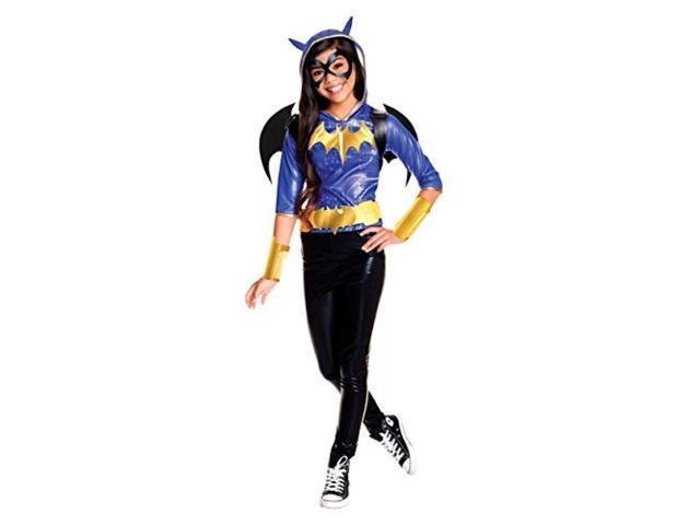 rubie's costume kids dc superhero girls deluxe batgirl costume, large photo