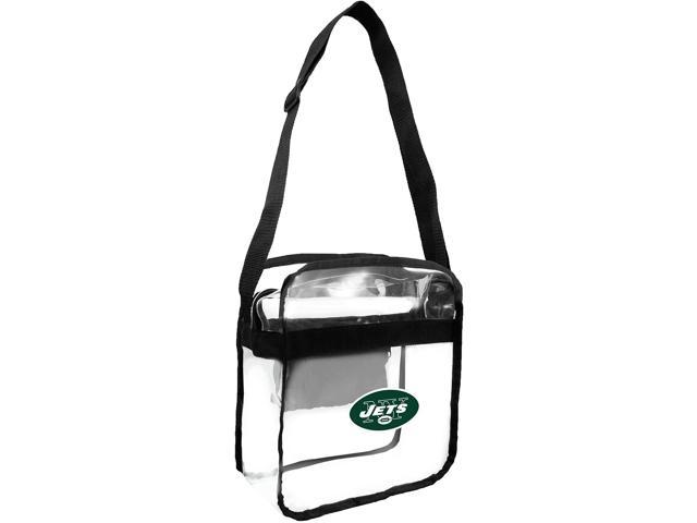 Littlearth NFL New York Jets Clear Carryall Crossbody Purse One Size (686699603021 Men's Casual Shirts) photo