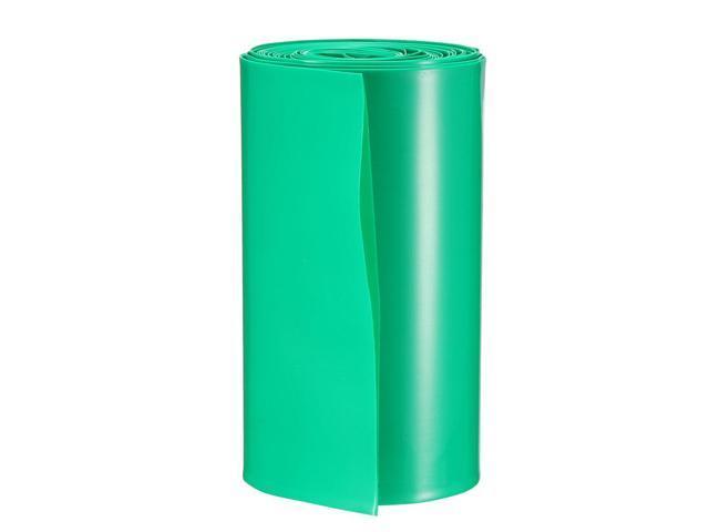 PVC Heat Shrink Tube 23mm Flat Width Pre-cut for AA 53mm Length Clear 20pcs