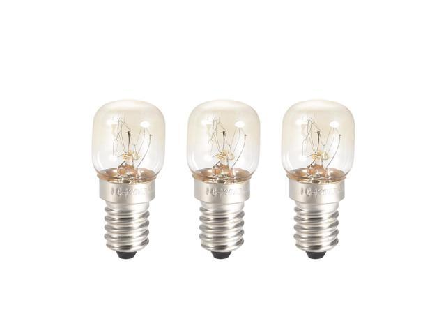 3pcs T22 E14S Microwave Replacement Bulbs for Most Ge Ovens Replaces Part Fits Intermediate E14S Base - 15W/AC 110-130v Yellow Warm Light photo