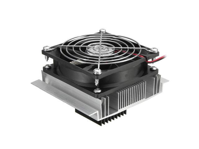 DC 12V Thermoelectric Peltier Refrigeration Cooling System Semiconductor Air Conditioner Cooler DIY Kit photo