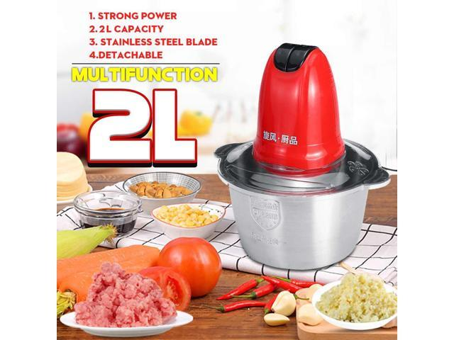 2 Speed 300W Multifunction Electric Meat Grinder Food Blende Stainless Steel Mincer 220V Electric Automatic Mincing Machine photo